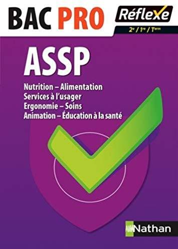 Nutrition – Alimentation – Services à l'usager – Ergonomie – Soins – Animation – Education à la santé – 2nde /1ère /Terminale – Bac pro ASSP
