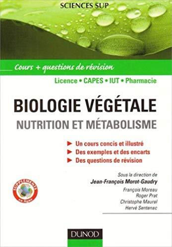 Biologie végétale : nutrition et métabolisme – cours et questions de révision