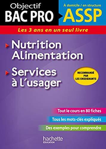 Fiches ASSP Services à l'usager, Nutrition-Alimentation