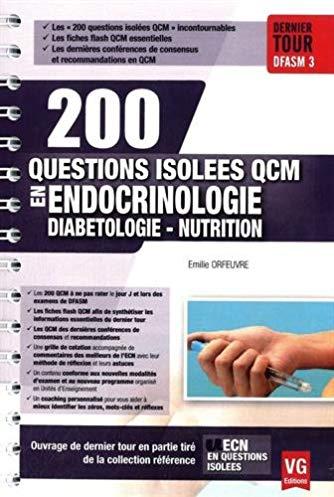 200 questions isolées QCM en endocrinologie, diabétologie, nutrition