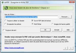 Imprimer en PDF (doPDF)